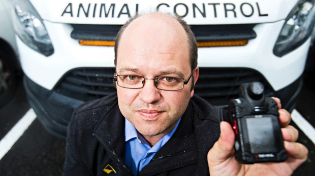 New Plymouth animal control using body camera